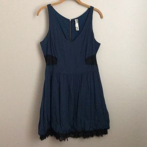 Free People blue and black lace dress
